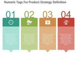ppt Four Numeric Tags For Product Strategy Definition Flat Powerpoint Design