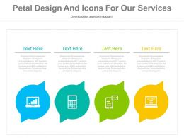 ppt Four Petal Design And Icons For Our Services Flat Powerpoint Design