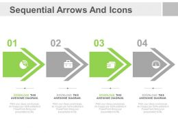 ppt Four Sequential Arrows And Icons For Business Analysis Flat Powerpoint Design