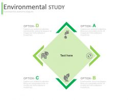 ppt Four Staged Data For Environmental Study Flat Powerpoint Design