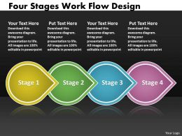 PPT four stages work flow interior design powerpoint template Business Templates 4 Stages