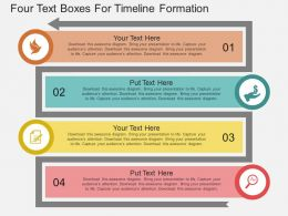 ppt Four Text Boxes For Timeline Formation Flat Powerpoint Design