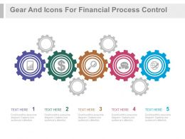 ppt Gear And Icons For Financial Process Control Flat Powerpoint Design