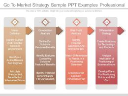 Ppt Go To Market Strategy Sample Ppt Examples Professional