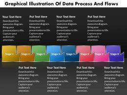 PPT graphical illustration of data process and flows Business PowerPoint Templates 8 stages