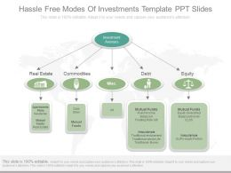 Ppt Hassle Free Modes Of Investments Template Ppt Slides