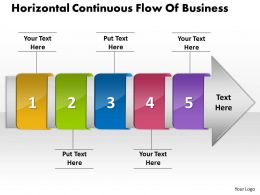 PPT horizontal continuous flow of business PowerPoint Templates 5 Stages