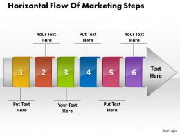 PPT horizontal flow of social network powerpoint backgrounds steps Business Templates 6 stages