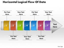 PPT horizontal logical flow of edit chart data powerpoint 2007 Business Templates 7 stages