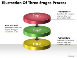 PPT illustration of three state diagram process Business PowerPoint Templates 3 stages