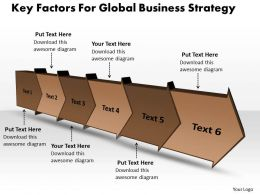 PPT key powerpoint 2010 factors for global business strategy Templates 6 stages