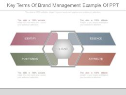 Ppt Key Terms Of Brand Management Example Of Ppt