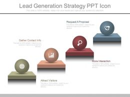 Ppt Lead Generation Strategy Ppt Icon