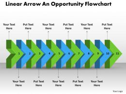PPT linear arrow an opportunity flowchart Business PowerPoint Templates 11 Stages