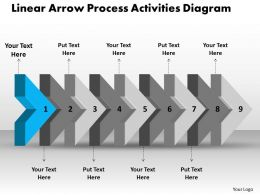 ppt_linear_arrow_process_activities_diagram_business_powerpoint_templates_9_stages_Slide02
