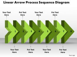 PPT linear arrow process sequence ishikawa diagram powerpoint template Business Templates 8 stages