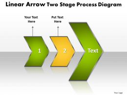 PPT linear arrow two stage process network diagram powerpoint template Business Templates 2 stages