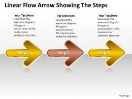 PPT linear demo create flow chart powerpoint arrow showing the steps Business Templates 3 stages