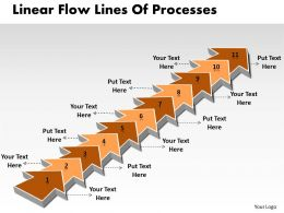 PPT linear demo create flow chart powerpoint lines of processes Business Templates 11 stages