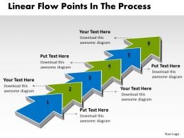 PPT linear demo create flow chart powerpoint points the process Business Templates 6 stages