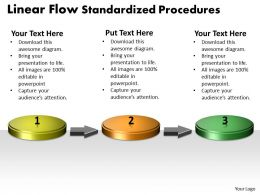 PPT linear demo create flow chart powerpoint standardized procedures Business Templates 3 stages