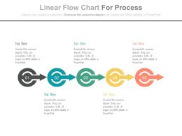 ppt Linear Flow Chart For Process Flow Flat Powerpoint Design