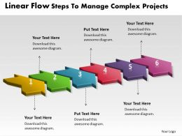 PPT linear flow steps to manage complex projects Business PowerPoint Templates 6 stages