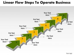 PPT linear flow steps to operate world business powerpoint templates 9 stages