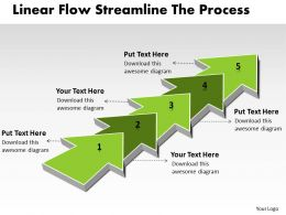 PPT linear flow streamline the process Business PowerPoint Templates 5 stages
