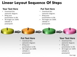 PPT linear layout sequence of practice the powerpoint macro steps Business Templates 4 stages