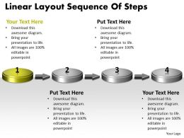 ppt_linear_layout_sequence_of_practice_the_powerpoint_macro_steps_business_templates_4_stages_Slide02