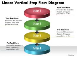 PPT linear vertical step flow swim lane diagram powerpoint template Business Templates 4 stages