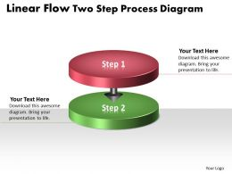 PPT linear work flow chart powerpoint two step process diagram Business Templates 2 stages