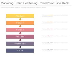 Ppt Marketing Brand Positioning Powerpoint Slide Deck