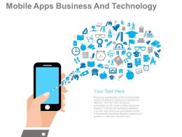 ppt Mobile Apps Business And Technology Flat Powerpoint Design