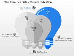 ppt New Idea For Sales Growth Indication Powerpoint Template
