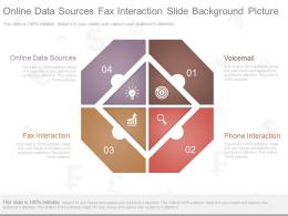 Ppt Online Data Sources Fax Interaction Slide Background Picture