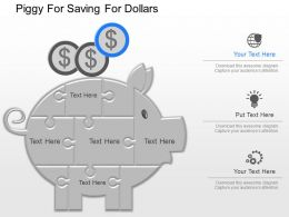 ppt Piggy For Saving For Dollars Powerpoint Template