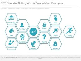 Ppt Powerful Selling Words Presentation Examples