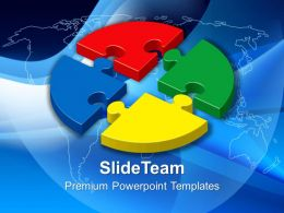 Ppt Puzzle Powerpoint Templates Circular Business Globe Slide