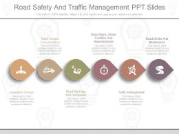 Ppt Road Safety And Traffic Management Ppt Slides