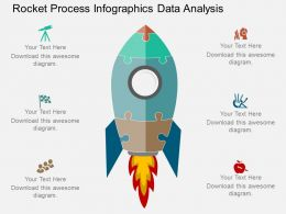 ppt Rocket Process Infographics Data Analysis Flat Powerpoint Design