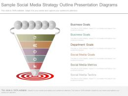 Ppt Sample Social Media Strategy Outline Presentation Diagrams