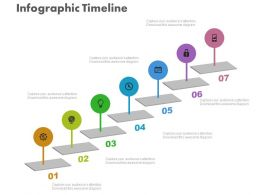 ppt Seven Staged Timeline For Growth Representation Flat Powerpoint Design