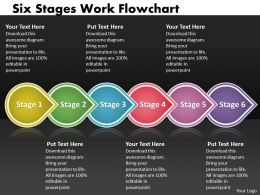 PPT six power point stage work flowchart Business PowerPoint Templates 6 stages