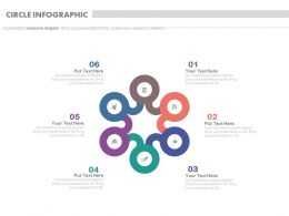 ppt Six Staged Circle Infographics With Icons Flat Powerpoint Design
