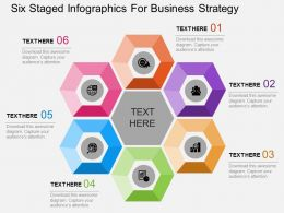 ppt Six Staged Infographics For Business Strategy Flat Powerpoint Design