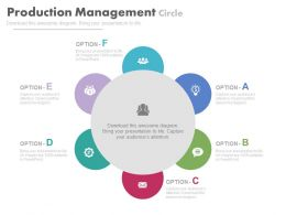 ppt Six Staged Production Management Cycle Flat Powerpoint Design