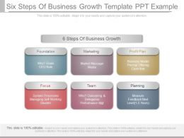 Ppt Six Steps Of Business Growth Template Ppt Example