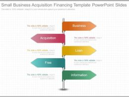 Ppt Small Business Acquisition Financing Template Powerpoint Slides